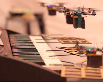 Flying Robotic Nano-Quadcopters